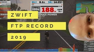 ZWIFT FTP TEST   test no 2 2019  FEBRUARY results   ALL TIME HIGH