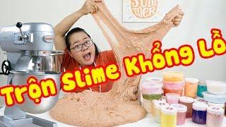 TRỘN 75 HỘP SLIME TRONG MÁY LÀM SLIME KHỔNG LỒ | Mixing All Slime