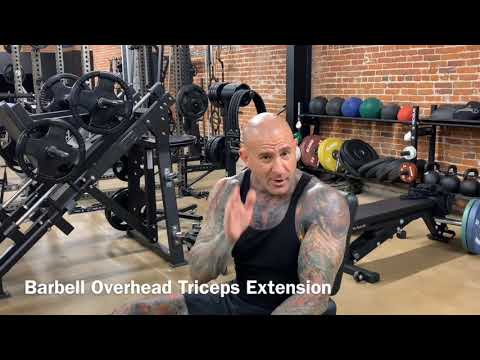 Barbell Overhead Triceps Extension Tips