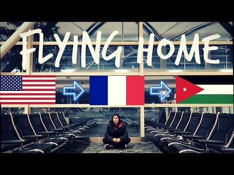 Flying Home For New Year's Eve (Jordan Travel Vlog)