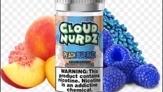 Peach blue razz- Cloud Nurdz Review