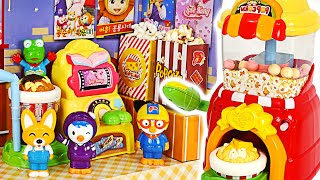 Let's make popcorn with Pororo and friends at Kongsuni popcorn shop | PinkyPopToy