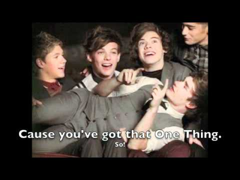 One Thing Lyrics! By One Direction!