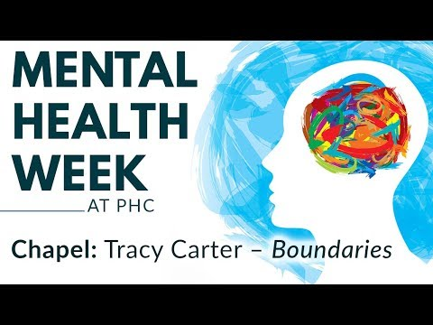 PHC | Mental Health Week - Tracy Carter, Boundaries