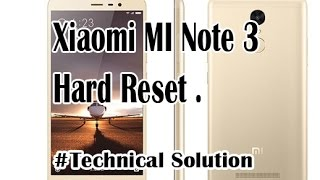 xiaomi mi note 3 hard reset