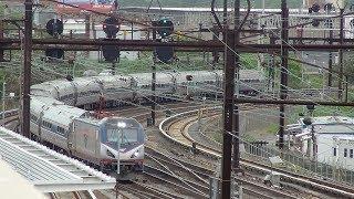 Railfanning the NEC Harrison PATH Station
