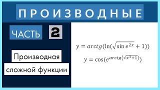 Производные №2 Дифференцирование сложной функции