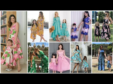 cute and stylish mother daughter matching dresses designs ideas for special occasion