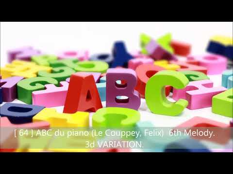[ 64 ] ABC du piano (Le Couppey, Felix)  6th Melody.  3d VARIATION.