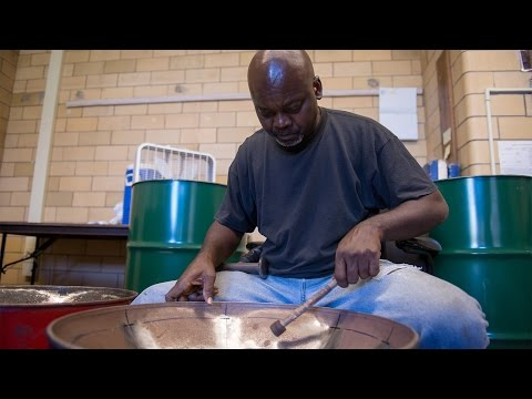 Antiguans craft steel drums for Rochester students