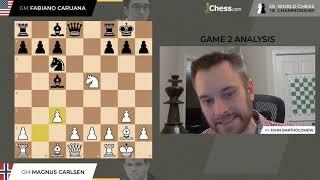 Game 4   Carlsen vs. Caruana   2018 World Chess Championship