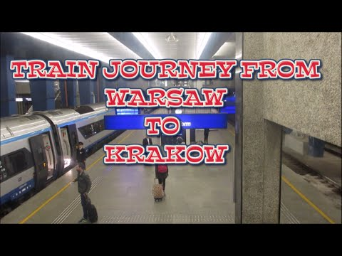 Catching The Train In Poland - From Warsaw To Krakow - HD