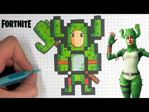 Tuto Pixel Art Skin Cactus Fortnite Youtube
