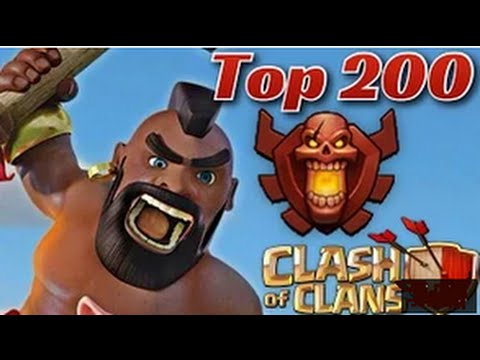 Clash OF Clans ☻☺╔► Top 200 wow...