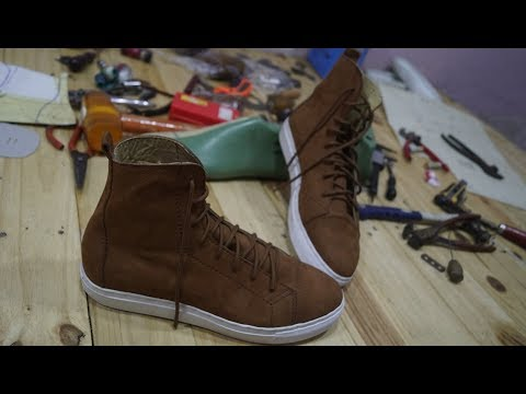 High top sneakers making (part 2 of 3)