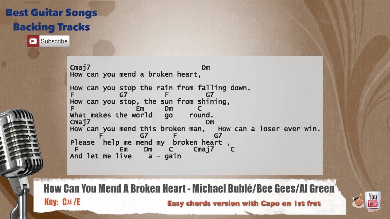 How Can You Mend A Broken Heart Michael Buble Bee Gees Al