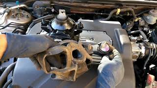 how to replace rear motor mount Acura TL 3.2L