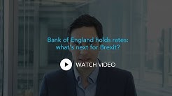 Bank of England holds rates: what's next for Brexit?