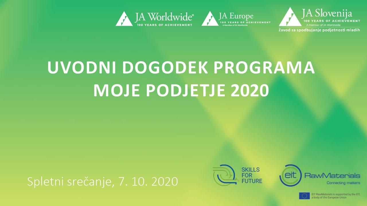 Povzetek Uvodnega dogodka 2020