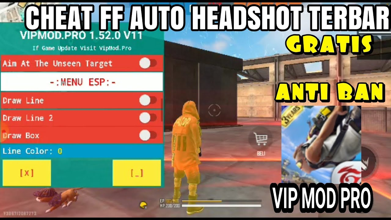 Cara Cheat Ff Auto Headshot 100 Tanpa Root Apk Vip Mod Pro Gratis Cheat Ff Anti Ban Youtube