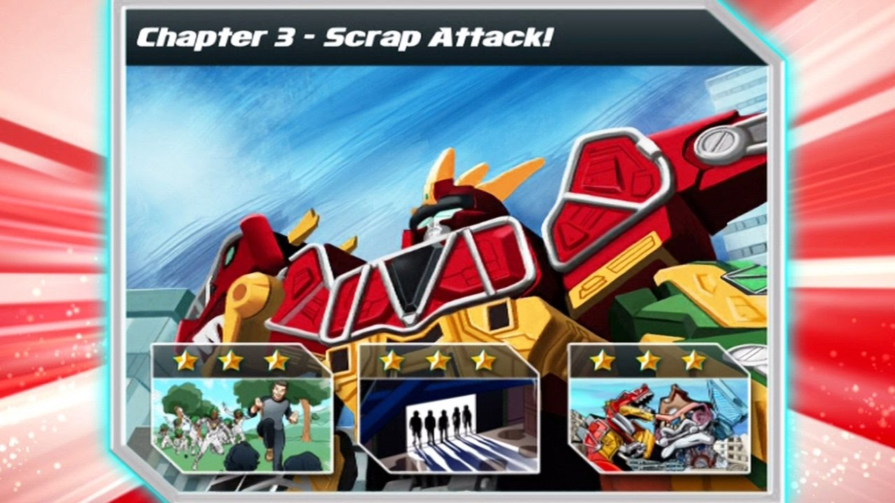 Power Rangers Dino Charge Rumble Chapter 3 Scrap Attack