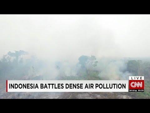 Indonesia battles dense air pollution