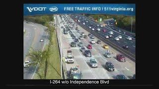 I-264 crash involves state trooper