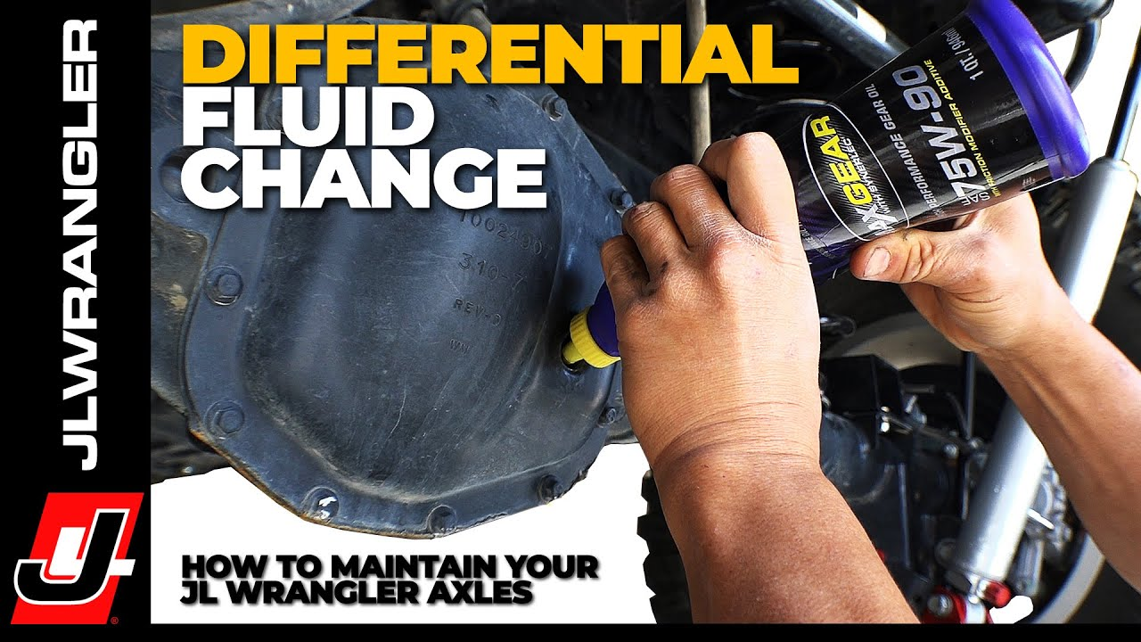 Jeep JL Wrangler Axle Differential Fluid Change - How to do it Yourself  Maintenance