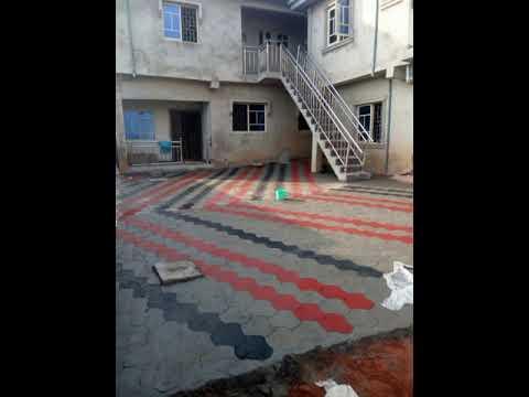 Concrete stamp flooring in Benin City, Nigeria.What's app 08 88 66752