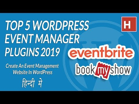 Top 5 WordPress Event Manager Plugin In Hindi 2019 ||  Event Management Website In WordPress