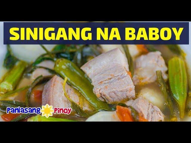 Sinigang Na Baboy With Gabi Youtube