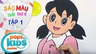 Sắc Màu Tuổi Thơ - Tập 1 - Bé Tập Vẽ Nhân Vật Xuka | How To Draw Xuka For Kids In Nobita