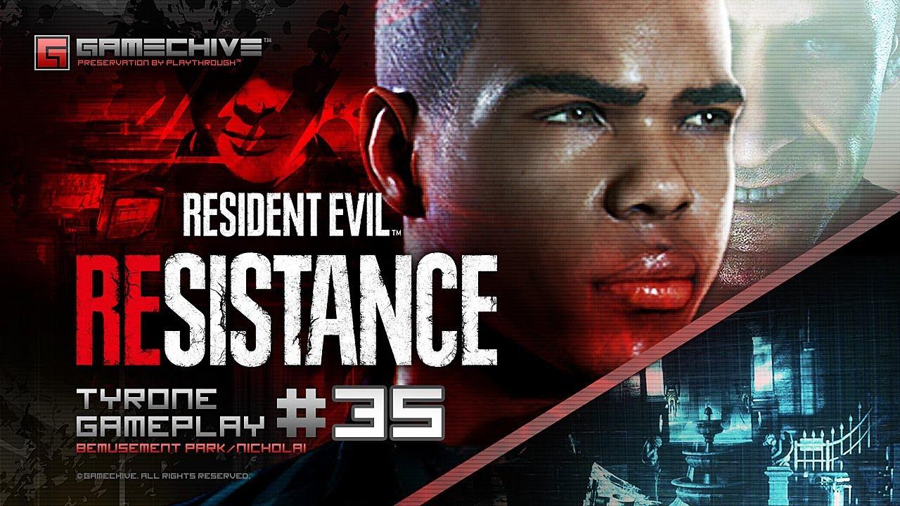 Resident Evil Resistance (Tyrone Henry #35: Bemusement Park, Nicholai Ginovaef, 5x) PS4 Gamechive