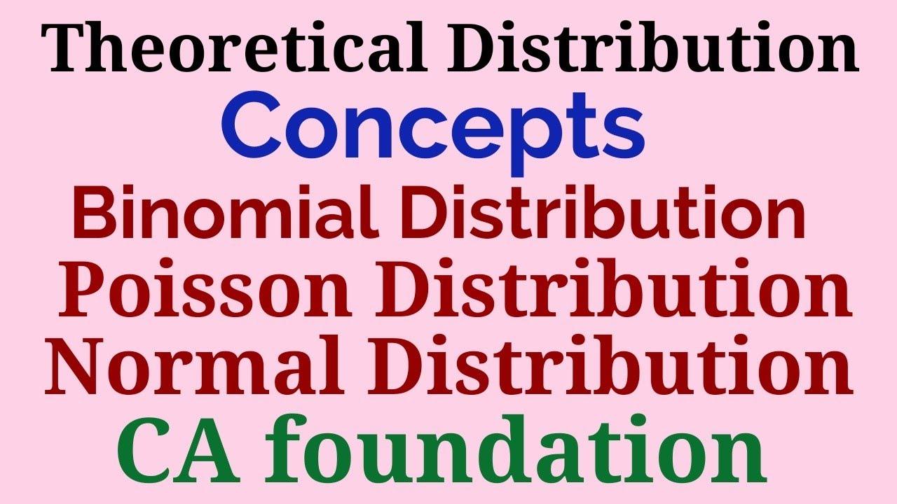 Theoretical Distribution, Binomial, Poisson, Normal Distribution. CAfoundation Maths by Pradeep Soni