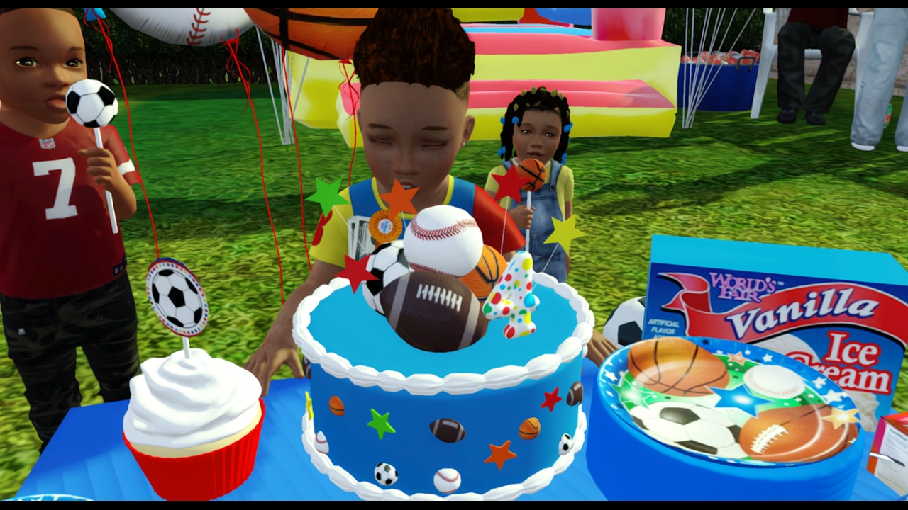 sims 3 speed decorating toddler birthday party youtube