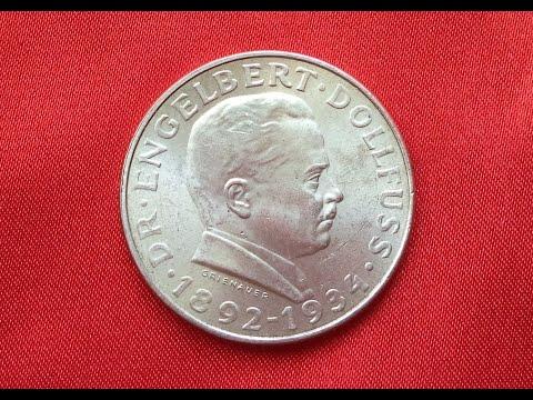 AUSTRIA 2 SCHILLING 1934 Death of Dr. Engelbert Dollfuss, Chancellor (UNC)