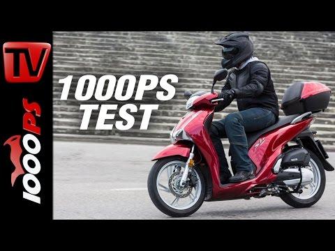 1000PS Test -  Honda SH125i & SH150i 2017 Test