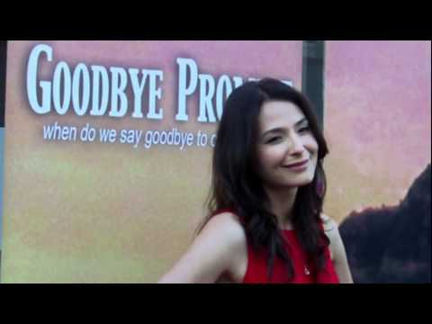 Goodbye Promise...actress Sarah Prikryl poses on red carpet at World Premiere!