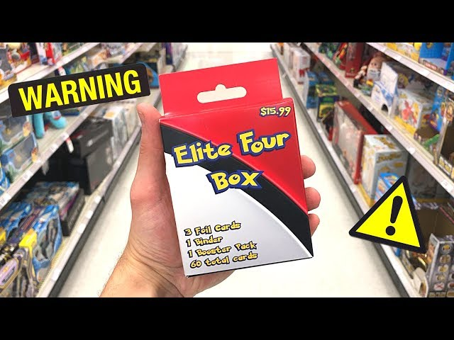 *STILL DO NOT BUY THIS!* Opening Pokemon Cards Elite Four Box FROM TARGET STORE!