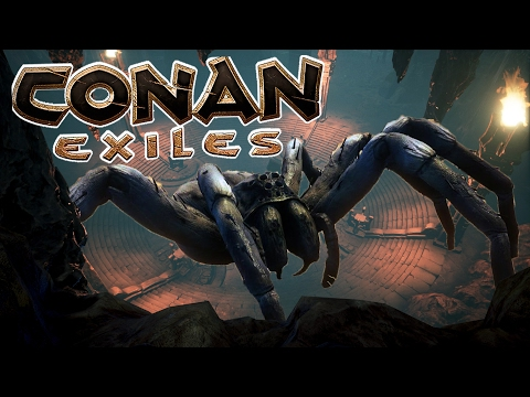 Huge Spider Boss Fight /w VintageBeef & J0hnBane | CONAN EXILES | S01E17 | Multiplayer Gameplay