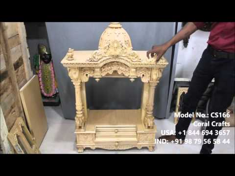 Wooden Temple with Doors Assembly - INR 35,000.00