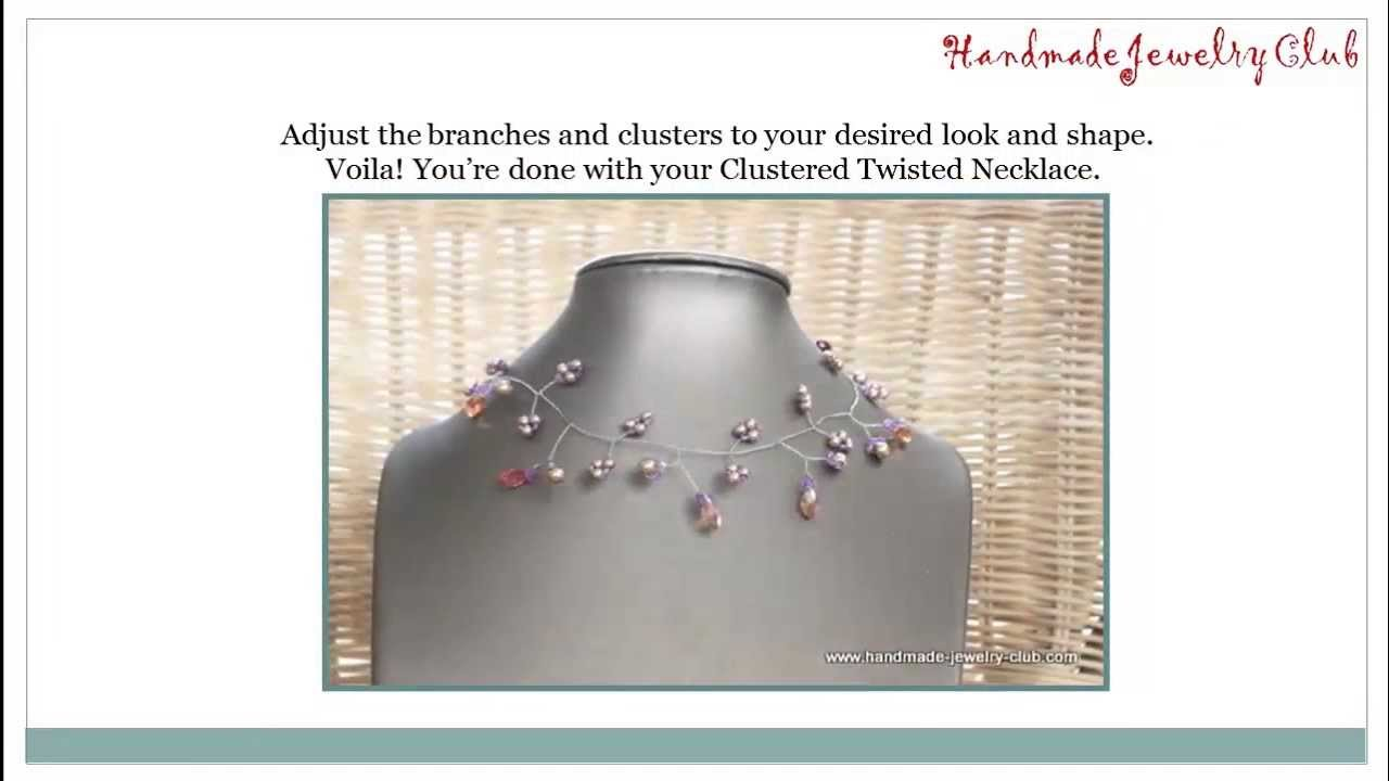DIY Wire Twisting: Clustered Twisted Necklace Free Video Step by ...