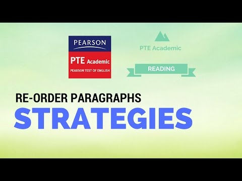 PTE Re-order paragraph strategies