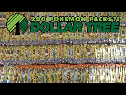 Pokémon Cards - Opening 200 Pokemon TCG Dollar Tree Packs!