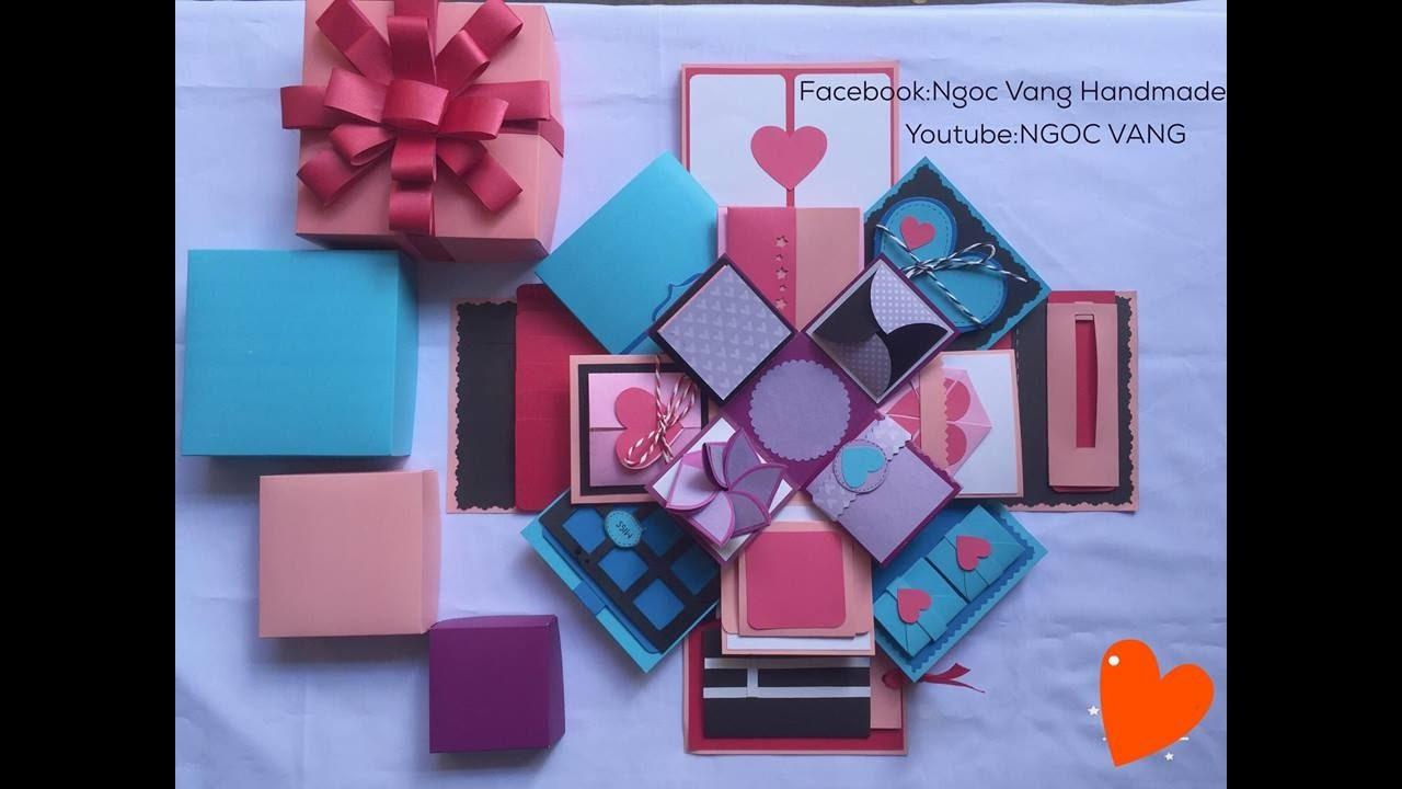 love box 12x12cm  4 lớp 4 màu  ngoc vang  youtube