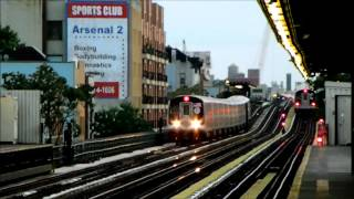 BMT Subway: R160 (N) / (Q) trains at 30th Avenue