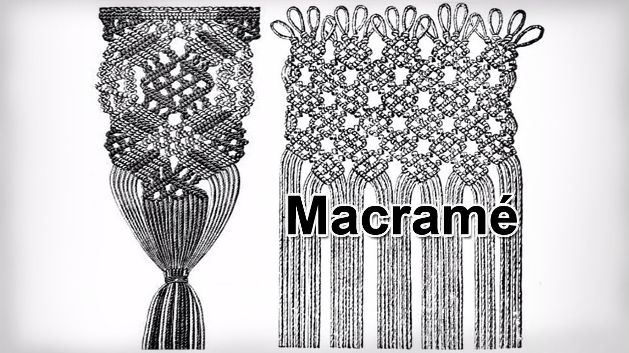 Classic Macrame knots and patterns from ancient times - YouTube