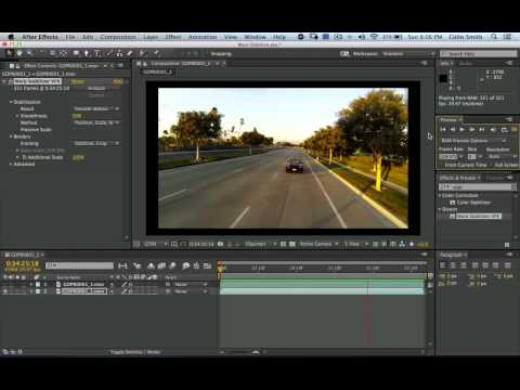 After Effects Tutorial: Stabilizing shaky video in Adobe After Effects CC