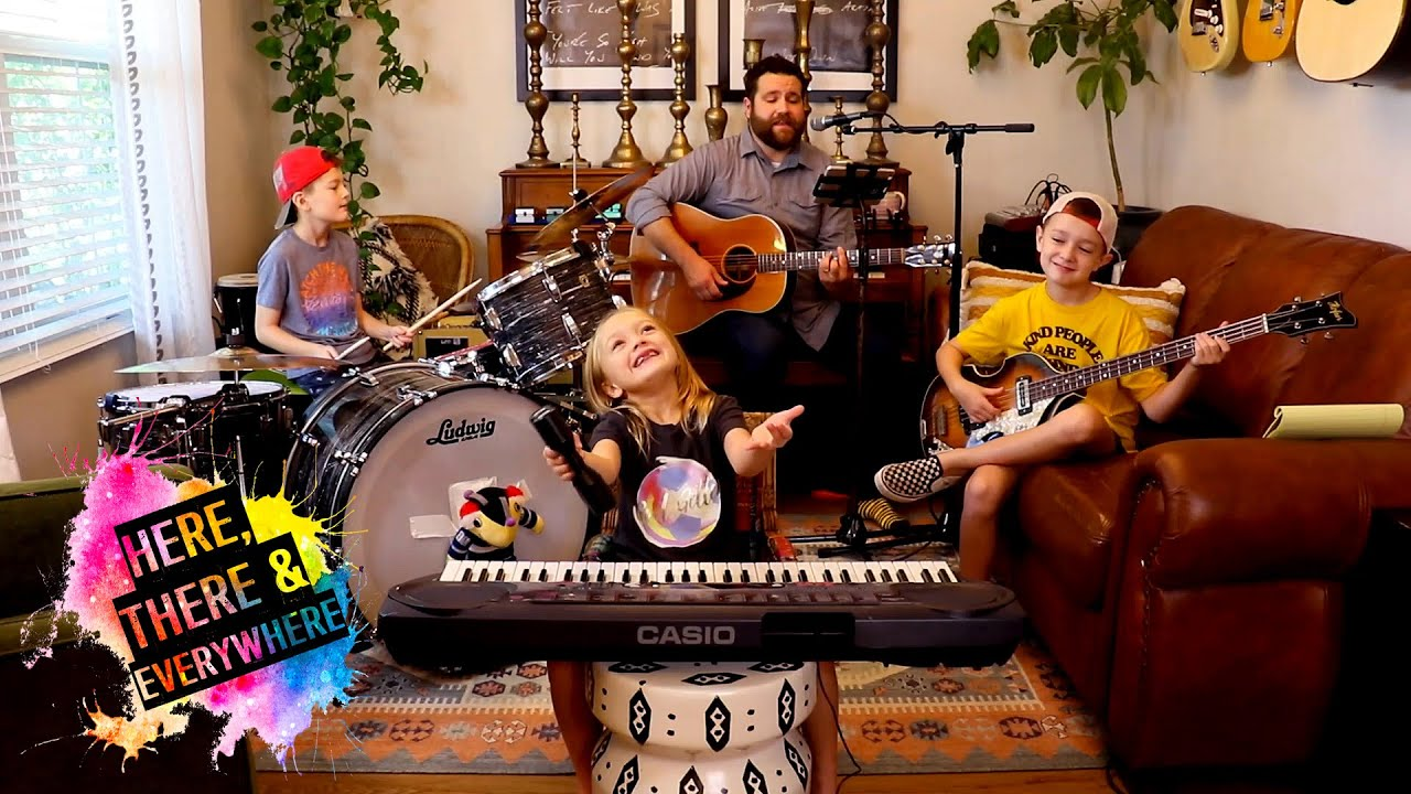 """Colt Clark and the Quarantine Kids play """"Here, There and Everywhere"""""""