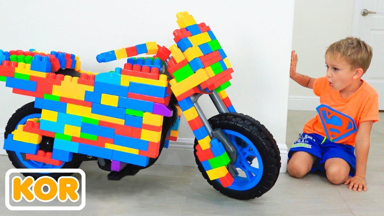 장난감 스포츠 바이크 블라드와 니키 놀이 | 아이들을위한 재미있는 비디오